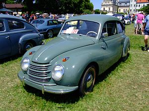 IFA F9 - While the Zwickau plant was producing the IFA F9, in the west Auto Union launched the DKW F89 derived from the same prewar DKW F9 prototype. At this stage, however, the western car was still powered by a two-cylinder 684 cc engine.