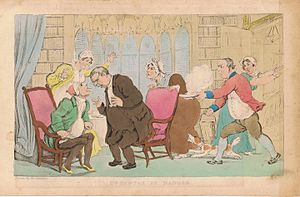William Combe - Dr Syntax in Danger, print after a drawing by Thomas Rowlandson.