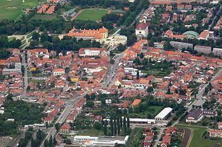 Slavkov u Brna Town in South Moravian, Czech Republic