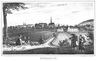 Heilbad Heiligenstadt - Heiligenstadt around 1840, by Carl Duval
