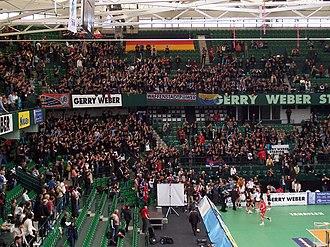 Gerry Weber Stadion - Image: DVV Pokal Suhl Fans