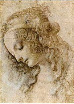 Da Vinci - Weiblicher Kopf im Profil