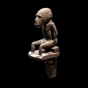 Dakuwaqa - Wooden figure of Dakuwaqa, on display at the Louvre, Solomon Islands.