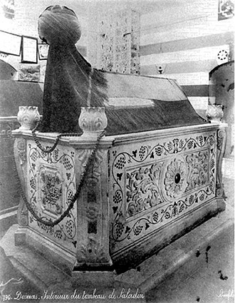 Mausoleum of Saladin - c.1880 photo of the tomb