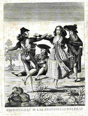 Seguidilla - Seguidilla dancing, 18th century