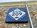Dave's 209 Cafe Sign, Old Spring Creek School, Spring Creek, NC (50550818058).jpg