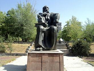 David the Invincible - The statue of David Anhaght in Yerevan