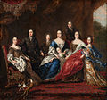 David Klöcker Ehrenstrahl - Charles XI's family with relatives from the duchy Holstein-Gottorp - Google Art Project.jpg