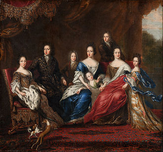 David Klöcker Ehrenstrahl - Charles XI of Sweden 's family with relatives from the duchy Holstein-Gottorp, 1691