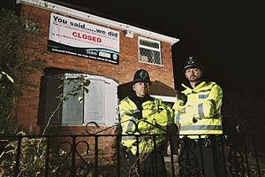 Drug house - Crack house closure by West Midlands Police in the United Kingdom