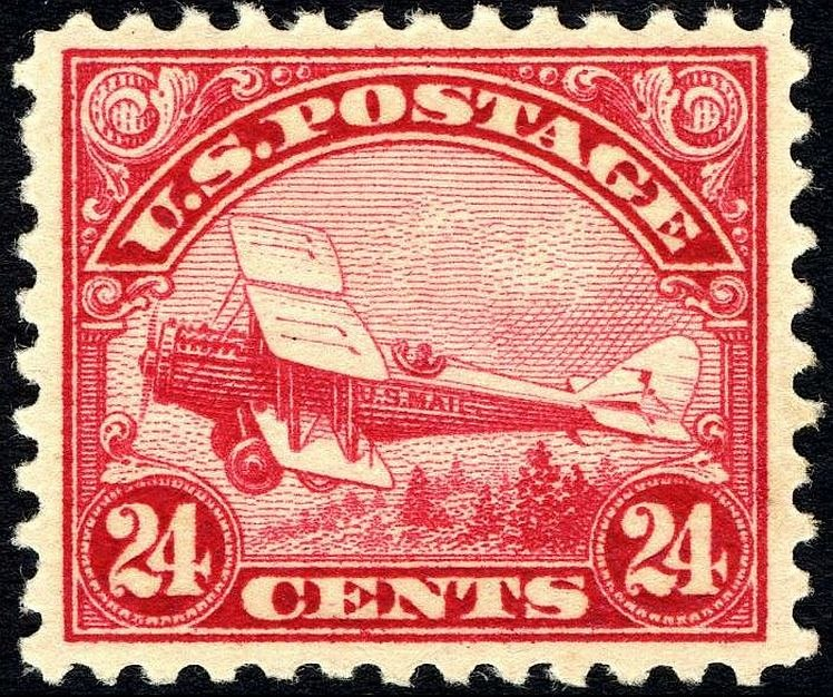 DeHavilland Biplane stamp 24c 1923 issue