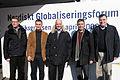 De nordiska statsministrarna samlade pa nordiskt globaliseringsforum i Riksgransen. Fredrik Reinfeldt Anders Fogh Rasmussen Matti Vanhanen Jens Stoltenberg och Geir H. Haarde.jpg