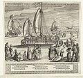 De zeilwagen van Simon Stevin, 1602 Currus velif. Illust. Princip. Mau. voli excedunt (titel op object), RP-P-OB-80.578.jpg