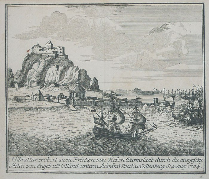 File:Decorative scenes of the War of the Spanish Succession - Gibraltar, 1704.jpg