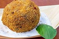 Deep Fried Cholent Dumpling (Fülemüle Restaurant) (41496749174).jpg