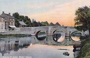Deeping St James - Image: Deeping St James, River Welland, 1907
