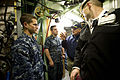 Defense.gov News Photo 111117-D-BW835-007 - Secretary of Defense Leon E. Panetta speaks to the crew of the USS Mississippi and workers from General Dynamics Electric Boat in Groton Ct. on.jpg