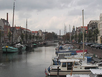 Delfshaven - View of the harbour of Delfshaven as it appears today.