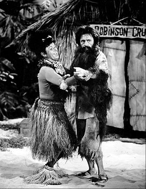 The Jack Benny Program - Jack Benny as Robinson Crusoe with Dennis Day as an island native, 1963.