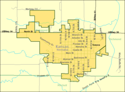 Detailed map of Seneca, Kansas