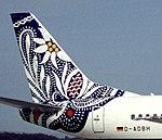 Deutsche BA Boeing 737-3L9; D-ADBH, March 1998 CUT (5066347069) (cropped).jpg