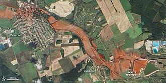 Ajka alumina plant accident - Image: Devecser és Kolontár térsége a vörösiszap katasztrófa után