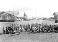 Die rekonvaleszenten Soldaten beim sportlichen Zeitvertrieb - CH-BAR - 3241418.tif
