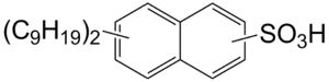 Dinonylnaphthylsulfonic acid - Image: Dinonylnaphthylsulfo nic acid