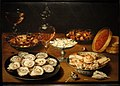 Dishes with Oysters, Fruit, and Wine, by Osias Beert the Elder, Flemish, c. 1620-1625, oil on panel - National Gallery of Art, Washington - DSC09953.JPG