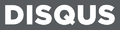 Disqus logo official - white on gray background.png