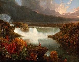 Distant View of Niagara Falls