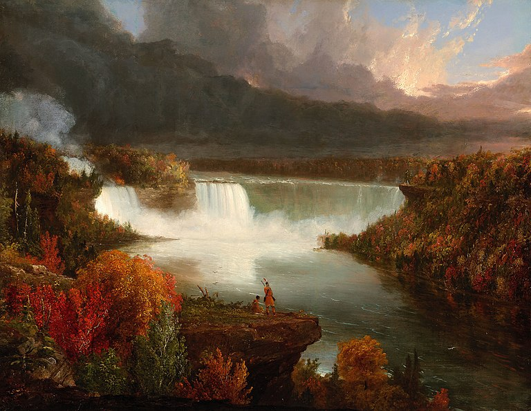 File:Distant View of Niagara Falls 1830 Thomas Cole.jpg