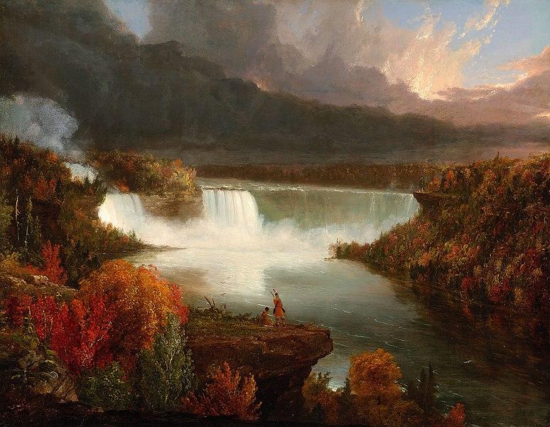 File:Distant View of Niagara Falls 1830 Thomas Cole.jpg