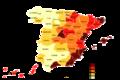 Distribución de la población extranjera en España (2005).png