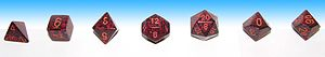 D&D uses polyhedral dice to resolve random eve...
