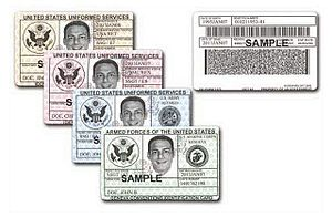 United States Uniformed Services Privilege and Identification Card - Sample DoD ID Cards