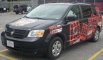 CKKL-FM - A Bob FM Dodge Grand Caravan.