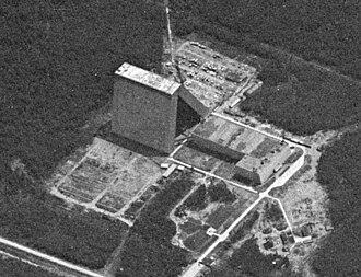 Dunay radar - Dunay-3 (NATO: Dog House) radar receiver taken by US KH-7 spy satellite in 1967
