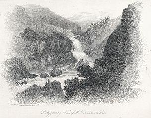Dolygarrog Waterfall, Carnarvonshire