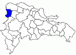 Location of the Dajabón Province