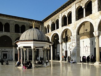 Umayyad Mosque - The Dome of the Clock was built in 780