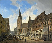 Hanover's Market Church Oil painting after Domenico Quaglio (1832) (Source: Wikimedia)