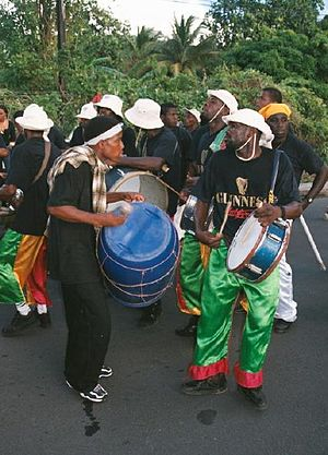 Music of Dominica - A Dominican drumming band