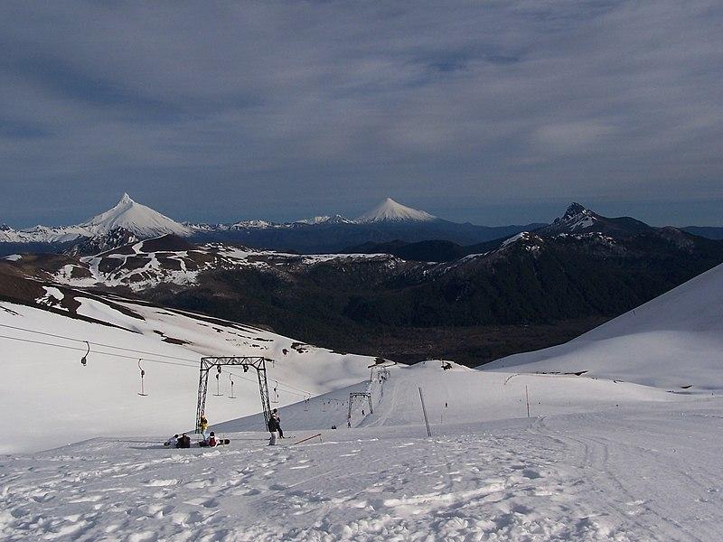 Esqui nas pistas do Chile