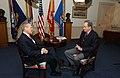 Donald Rumsfeld meets with Bill O'Reilly.jpg