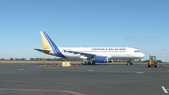 Donetsk International Airport - Donbassaero Airbus A320-200 at Donetsk International Airport