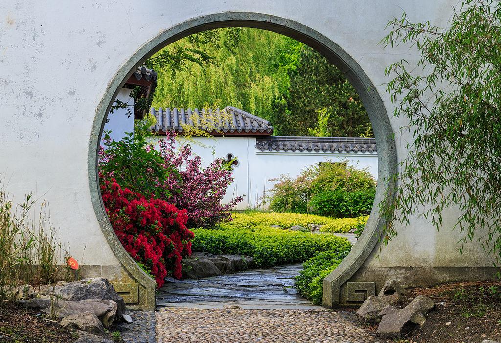 File doorgang in muur locatie chinese tuin het verborgen rijk van ming locatie hortus haren - Muur tuin ...