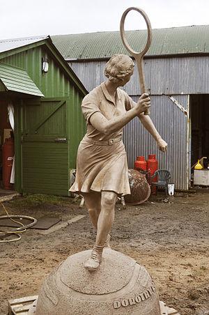 John McKenna (sculptor) - Dorothy Round Little portrait statue in bronze