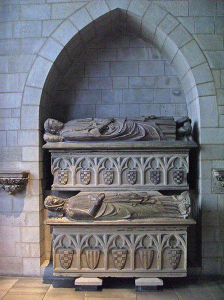 Sepulcro de Álvaro I de Urgel y Cecilia de Foix en The Cloisters, Nueva York.