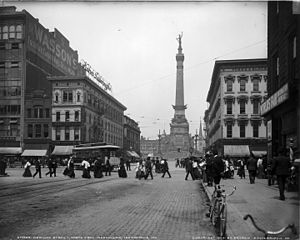 Downtown Indianapolis - Downtown Indianapolis in 1904.